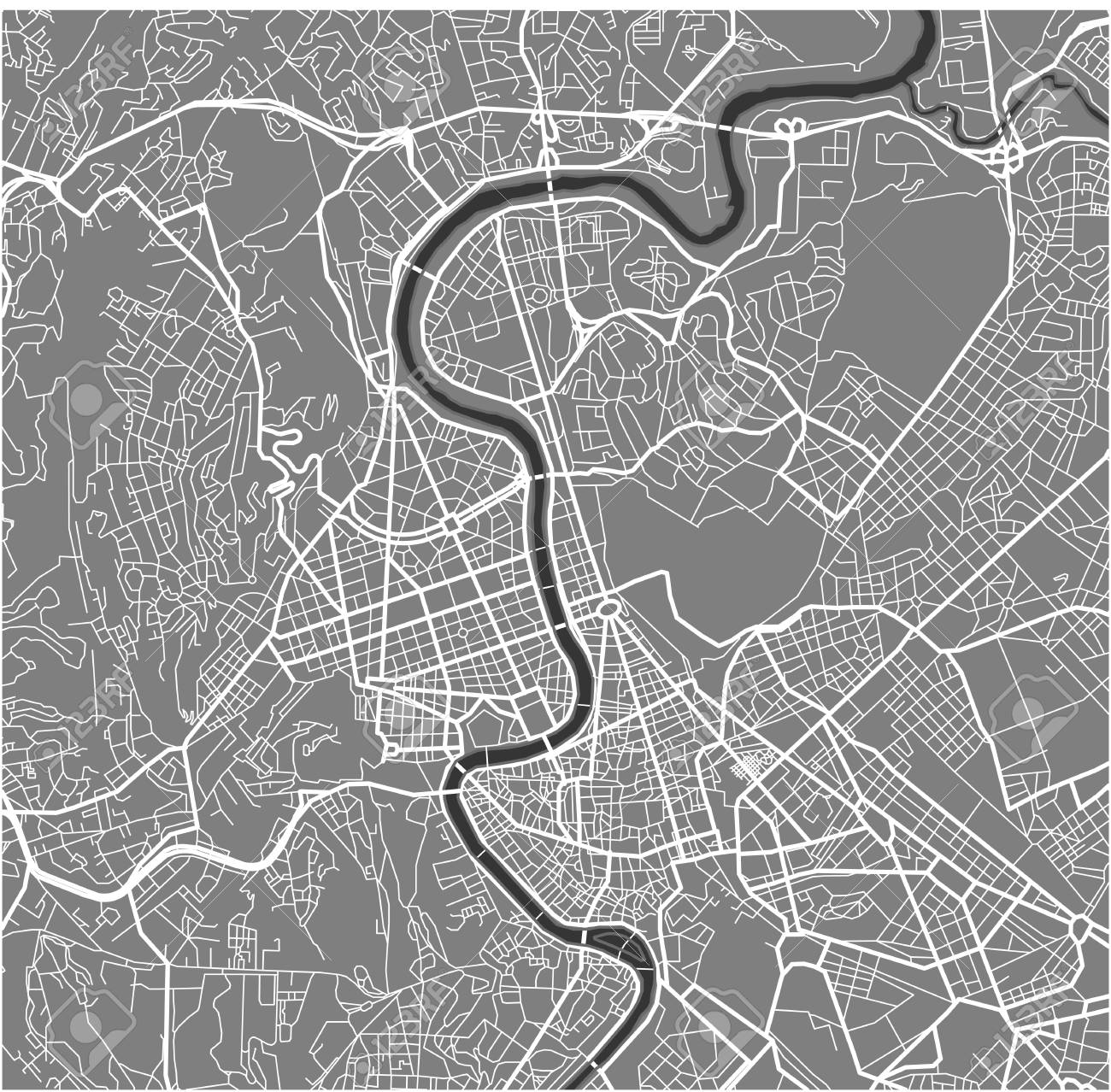 Vector Map Of The City Of Rome, Italy Royalty Free Cliparts, Vectors ...