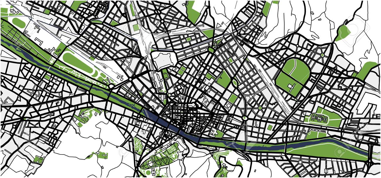 City Map Of Florence, Italy Royalty Free Cliparts, Vectors, And ...