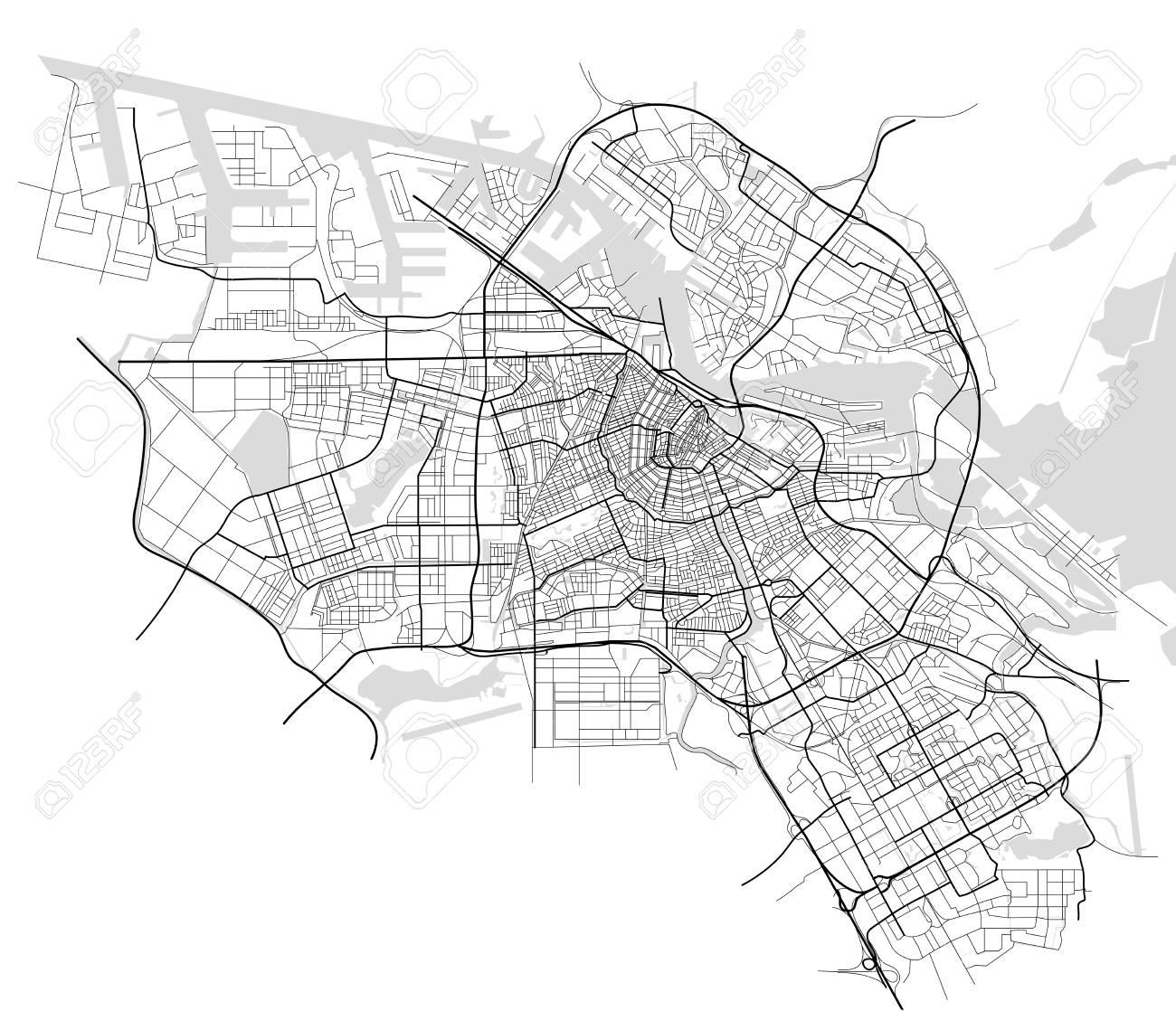 City Map of Amsterdam, Netherlands - 85116715