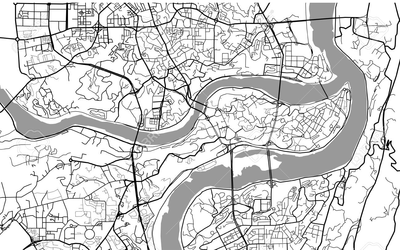 Map Of The City Of Chongqing, China Stock Photo, Picture And Royalty Chongqing China Map on