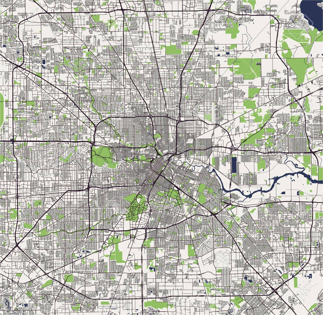 Map of the city of Houston US state of Texas vector illustration Map City Of Houston on texas map, houston independent school district map, citycentre houston map, los angeles houston map, water wall houston map, northeast houston map, downtown houston map, houston city district map, city md map, houston city road map, city nc map, city ny map, md anderson houston map, houston city council map, harris county zip code map, 1920s houston map, houston city limits map, movie theaters houston map, detroit houston map, city arkansas map,