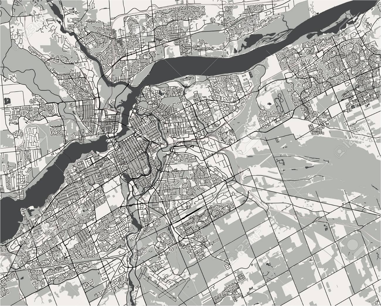 map of the city of Philadelphia, Pennsylvania, USA