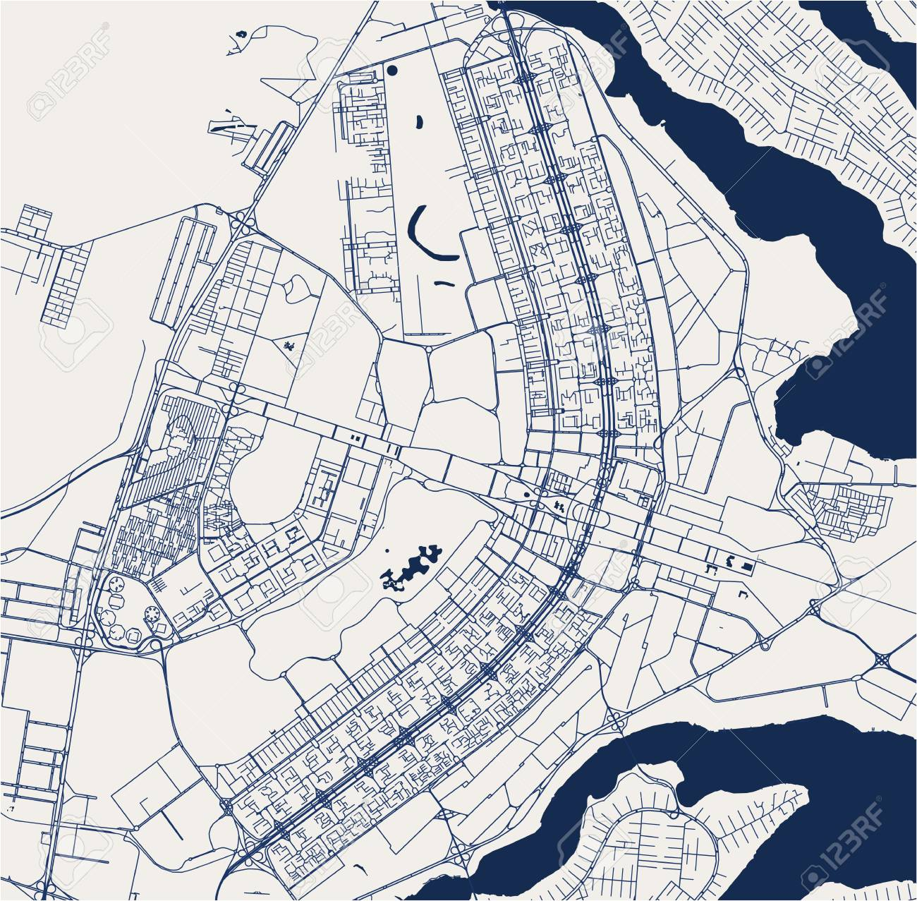 Vector Map Of The City Of Brasilia Capital Of Brazil Royalty Free Cliparts Vectors And Stock Illustration Image 126772403