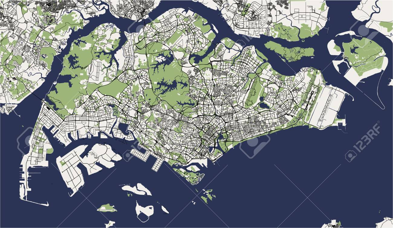 Map Of The City Of Jacksonville, Florida, USA Lizenzfrei Nutzbare ...