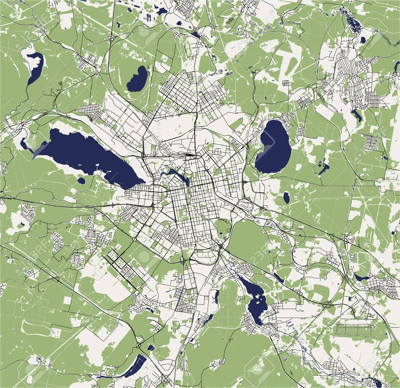 Picture of: Vector Map Of The City Of Yekaterinburg Sverdlovsk Oblast Ural Royalty Free Cliparts Vectors And Stock Illustration Image 125272479