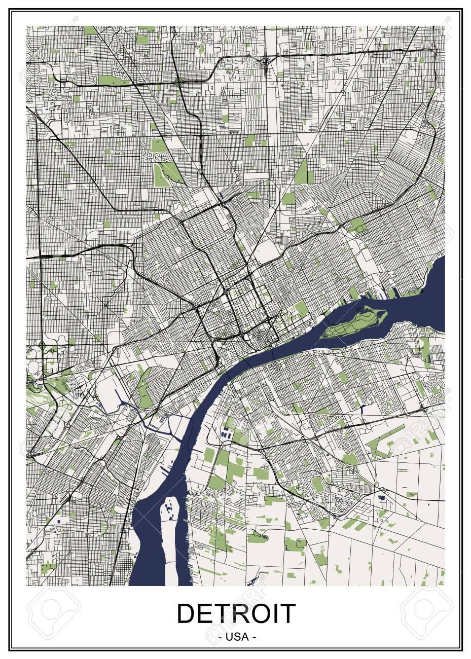 vector map of the city of Detroit, Michigan, USA on map usa dallas, map usa indianapolis, map usa new orleans, map usa san francisco, map usa boston, map usa chicago, map usa san antonio, map usa cleveland, map usa san diego, map usa new york, map usa baltimore, map usa philadelphia, map usa michigan, map usa atlanta,