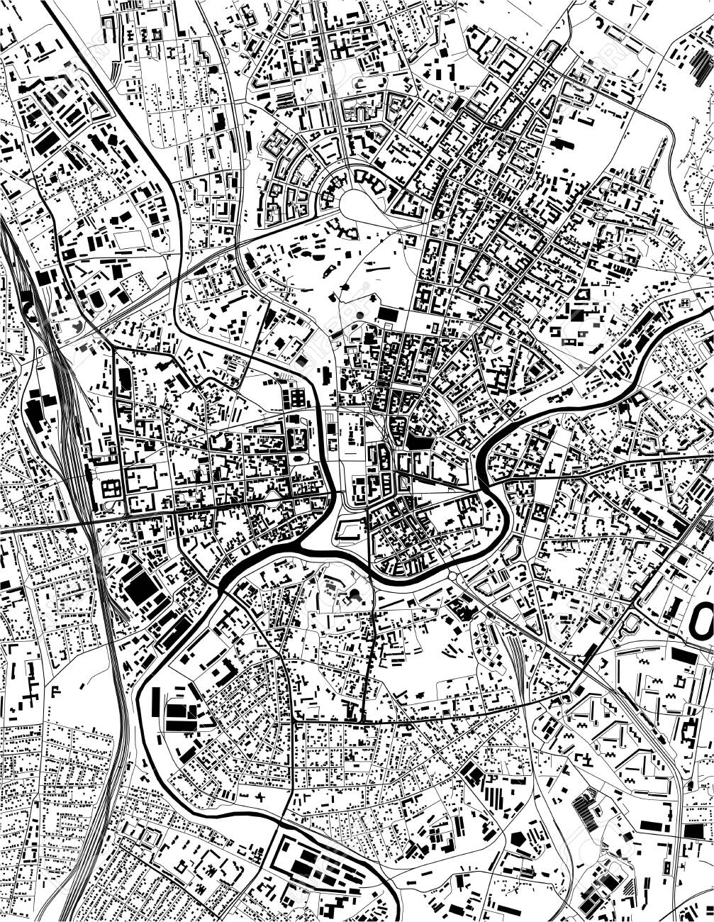 map of the city of Kharkiv, Ukraine - 151096964
