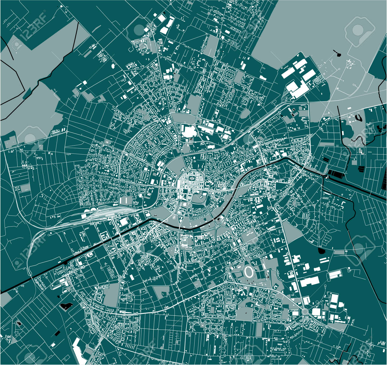 map of the city of Timisoara, Romania - 165249184