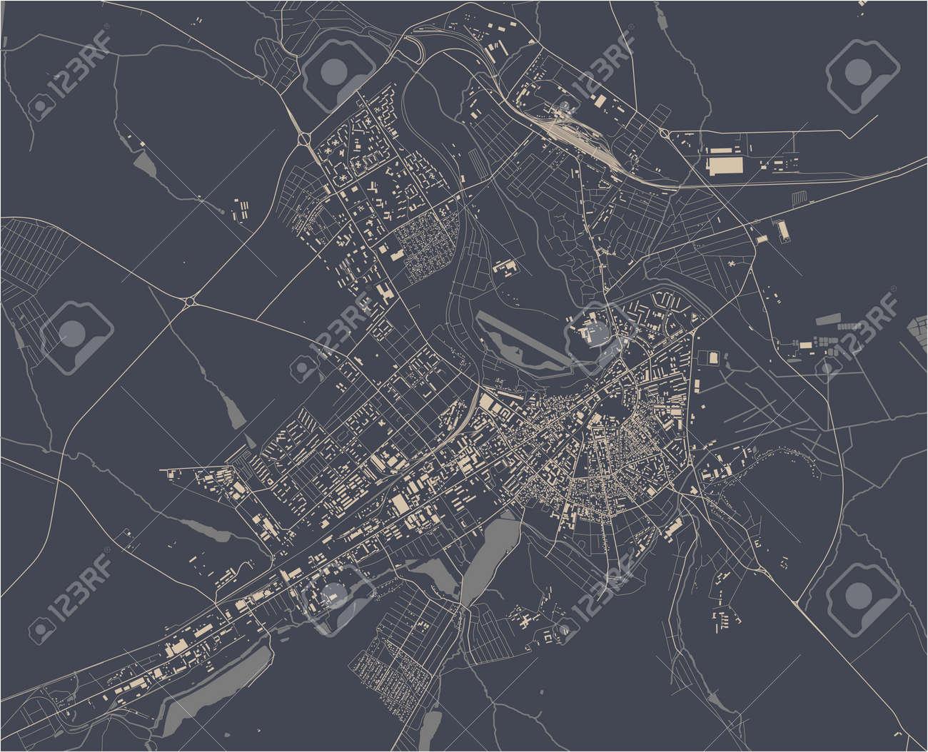 map of the city of Balti, Moldova - 172162517