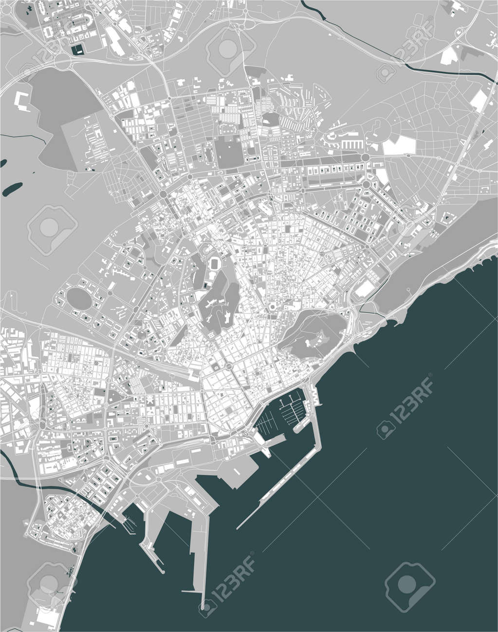 map of the city of Alicante, Spain - 172162552