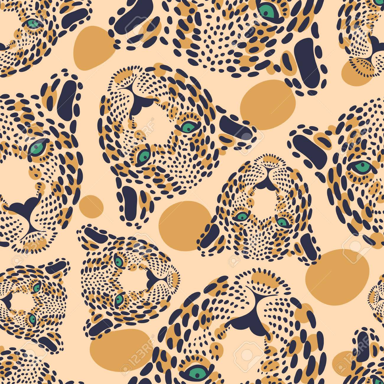 Pattern Seamless Wallpaper With A Picture Of The Muzzle Of The