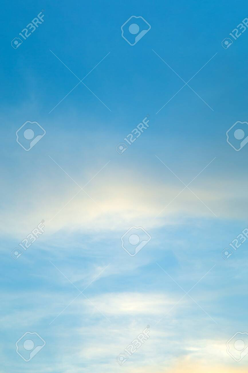 Vertical image white clouds in blue sky in summer clearly day. - 147318051
