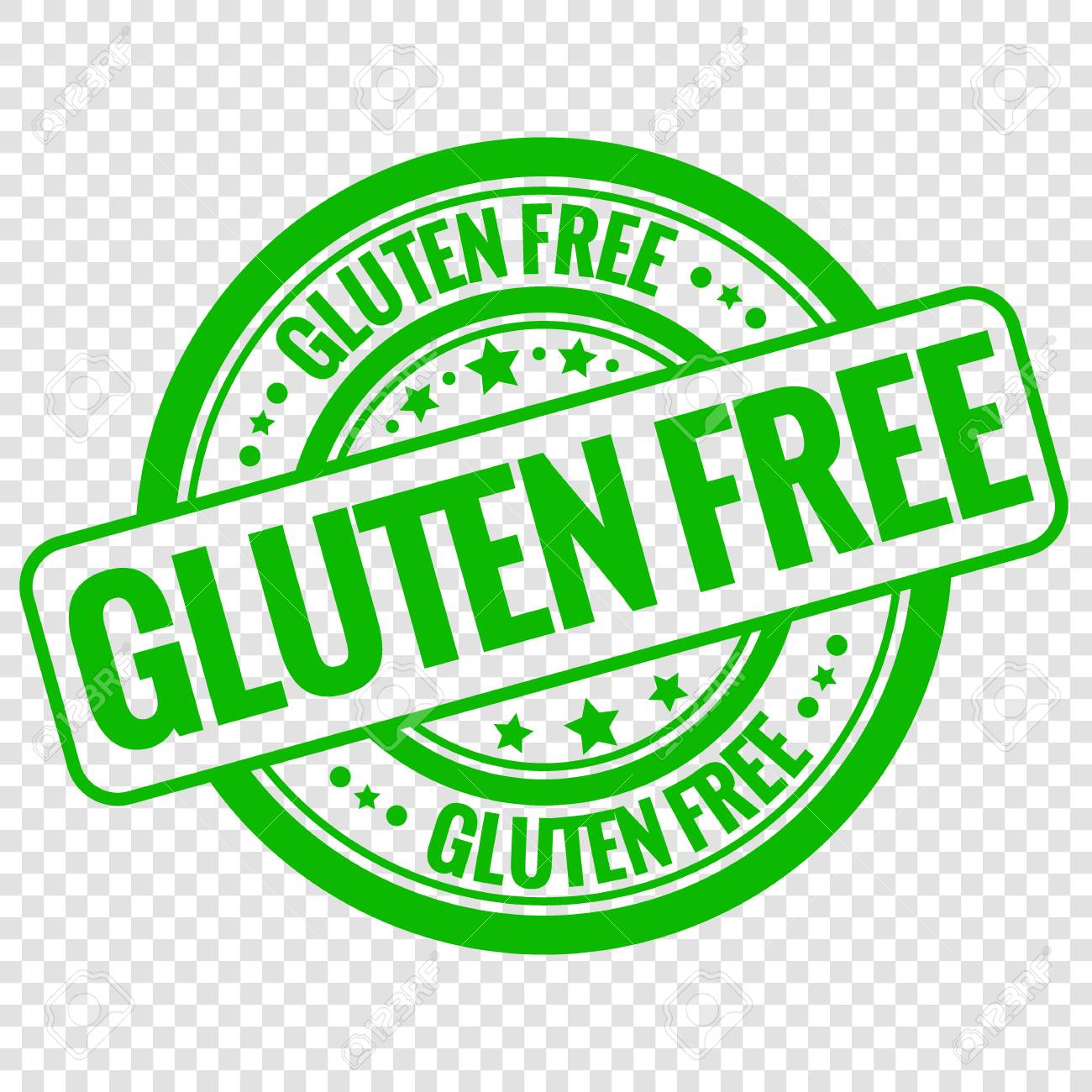 vector gluten free stamp isolated on transparent background royalty