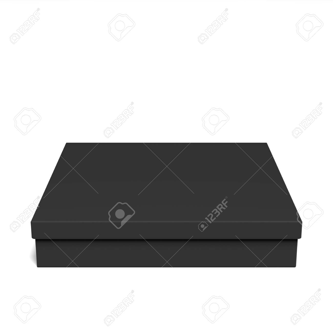 Blank Cardboard Box Template On A Grey Background Packaging Collection 3D Rendering Stock Photo