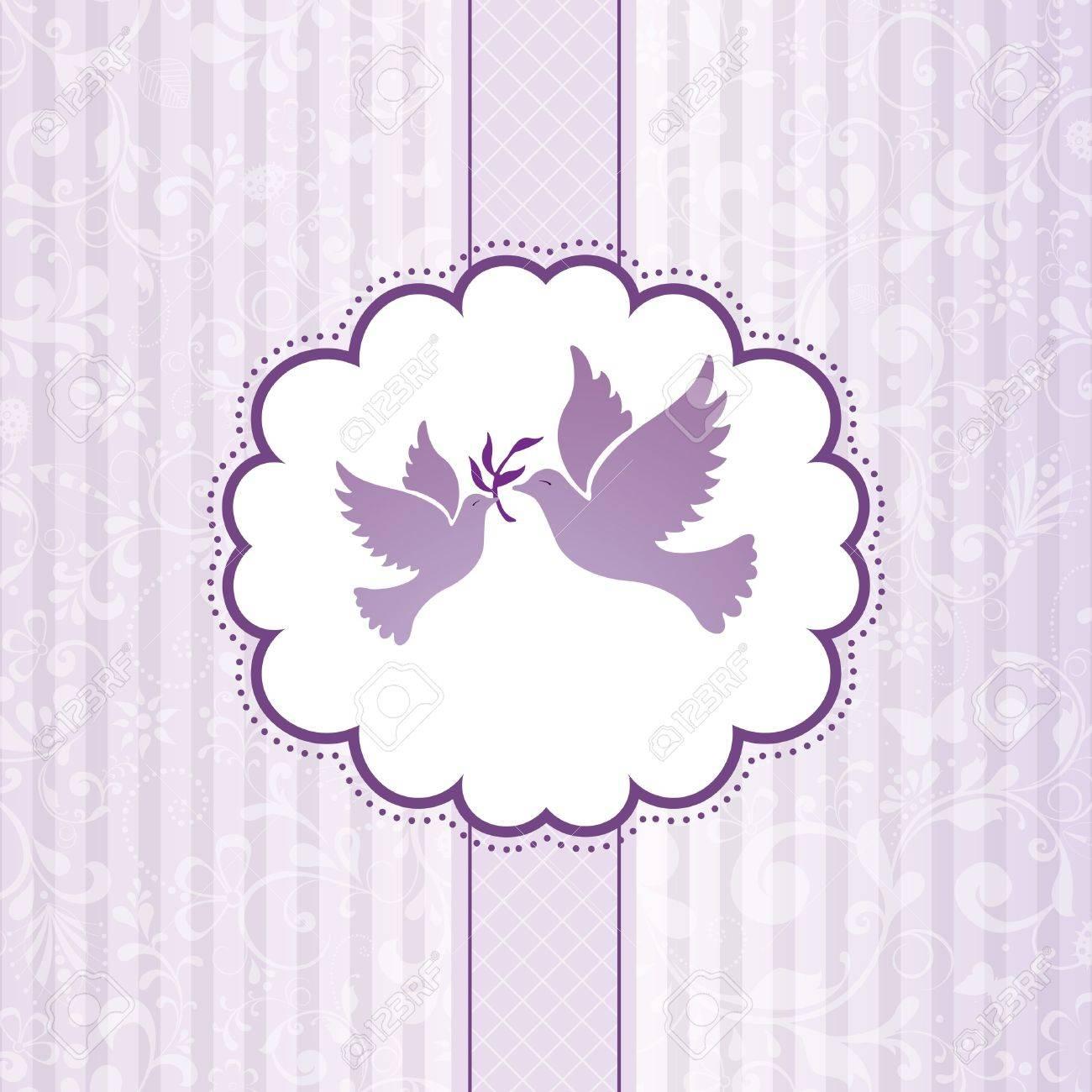 Elegant greeting flowers background illustration Stock Vector - 12495220