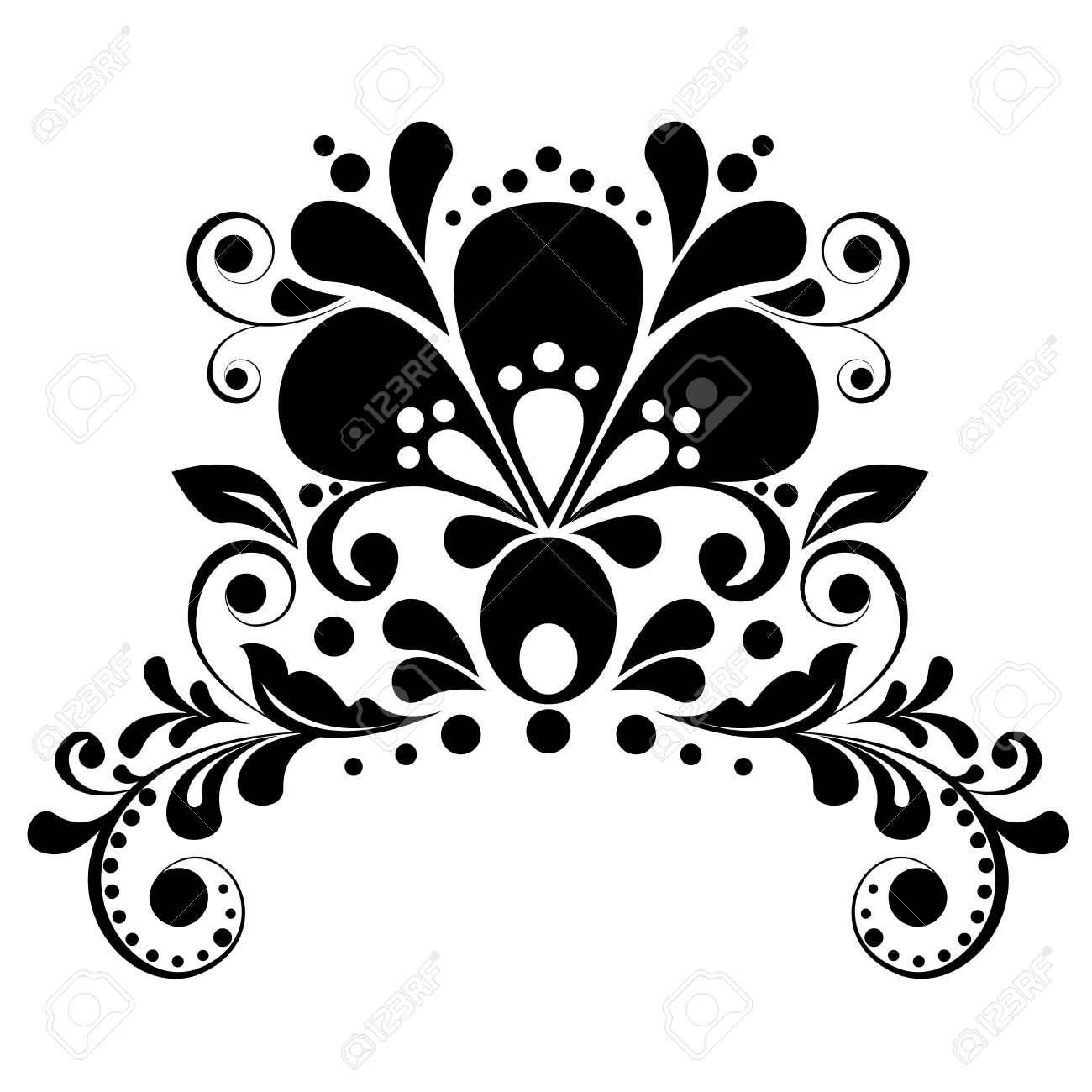elegant floral design element royalty free cliparts vectors and