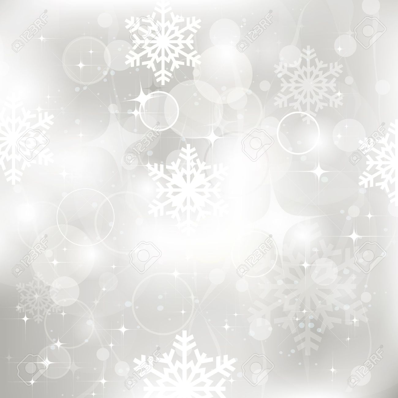 Vector Glittery Silver Christmas Background Royalty Free Cliparts ...