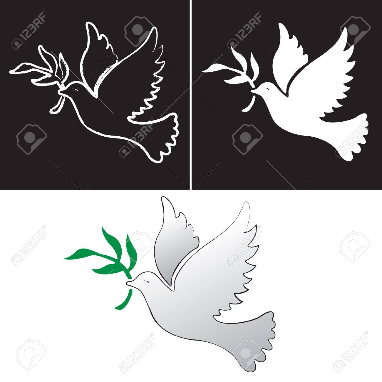 A free flying vector white dove symbol Stock Vector - 16553969