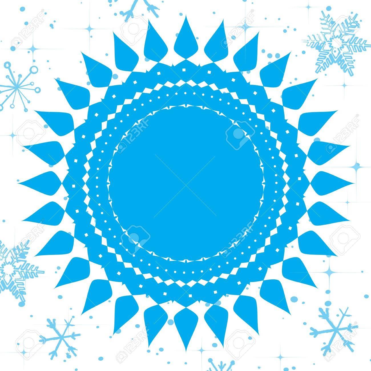 Vector template frame design for Christmas card Stock Vector - 16554053