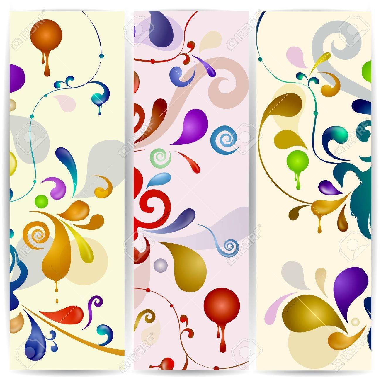 Vector vertical abstract banner. Stock Vector - 16553983