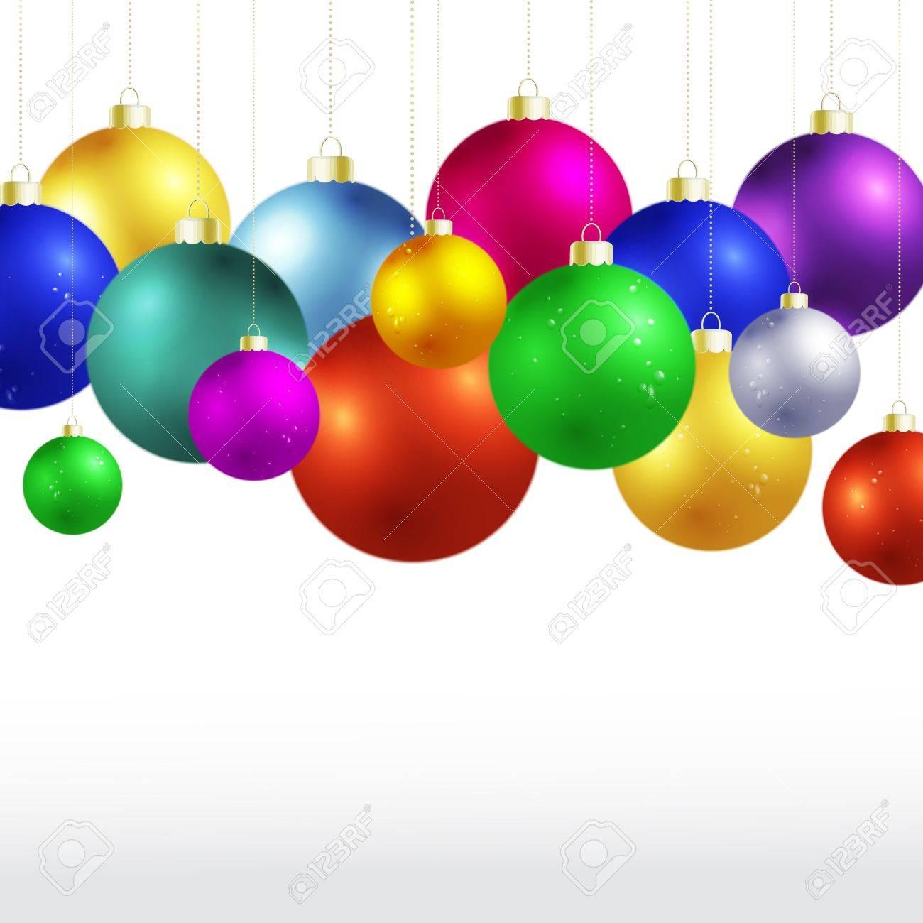 Vector many Christmas balls. Stock Vector - 16554005