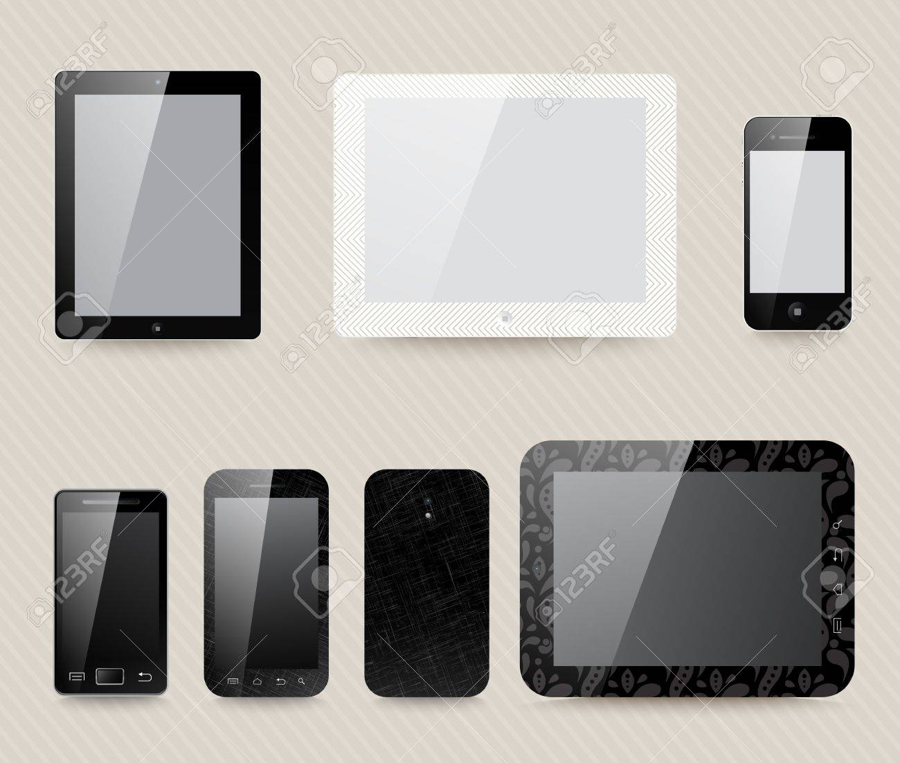 different generic models of tablet devices and smart phones. Stock Vector - 20172843