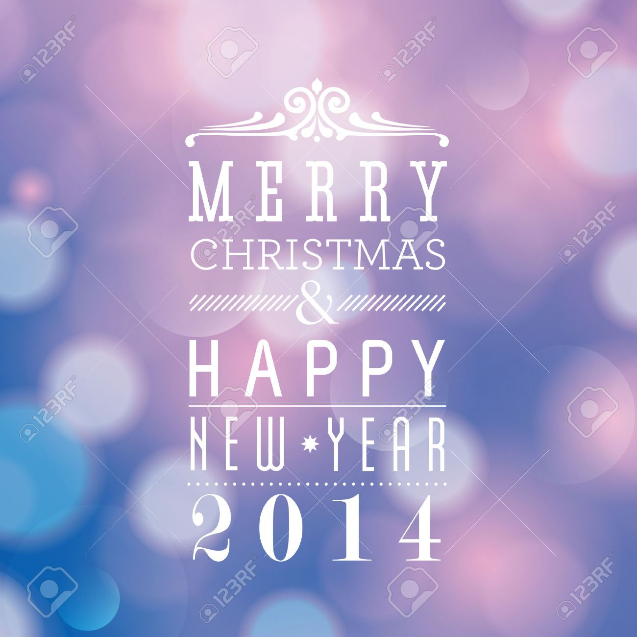 Merry Christmas and Happy New Year card design Stock Vector - 22244490