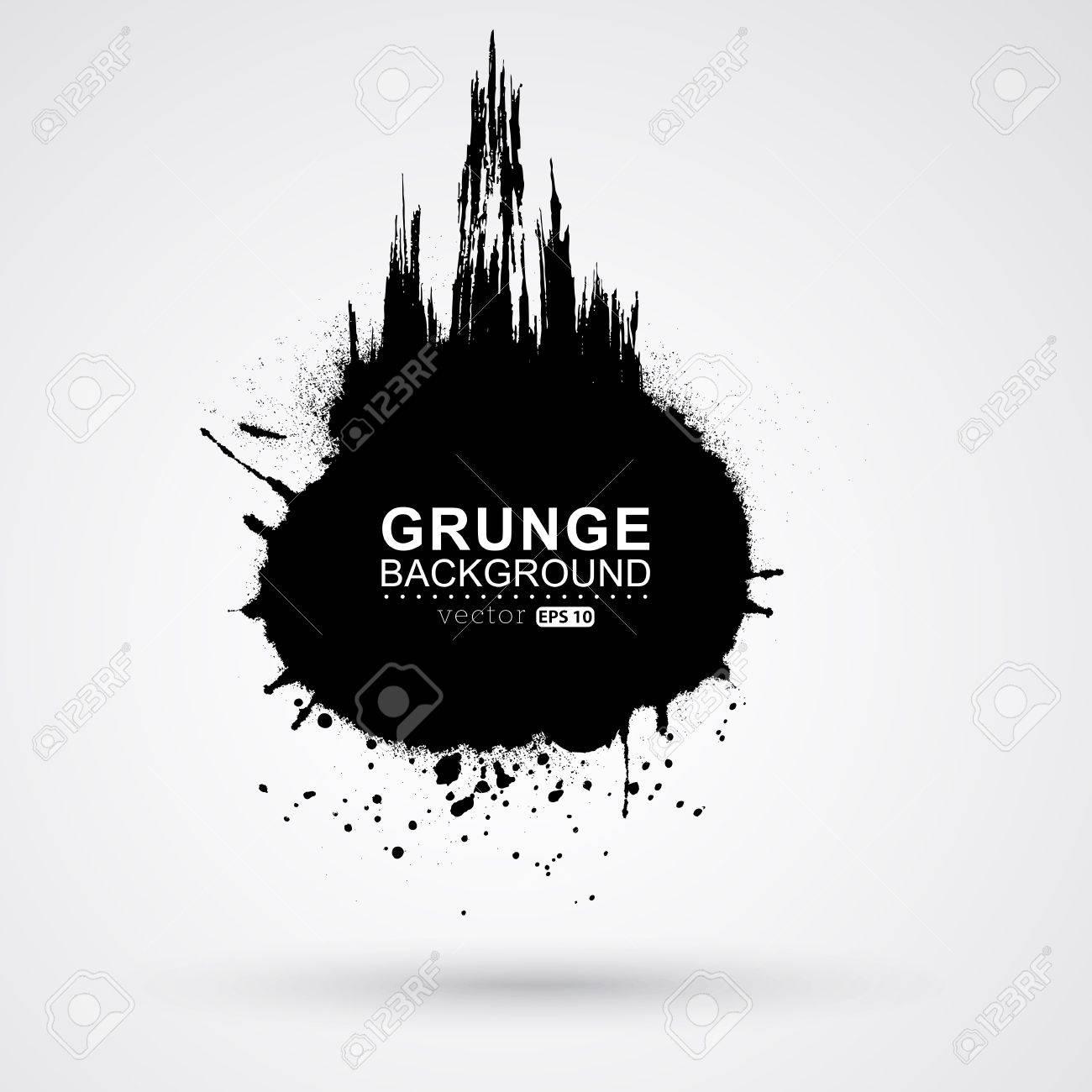 Figured brush strokes brush and ink. Stock Vector - 22895772