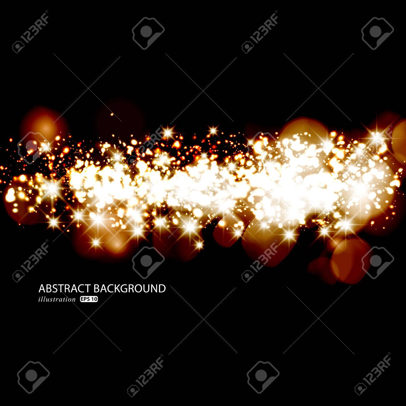 Glittery lights golden abstract Christmas background. Stock Vector - 23768476