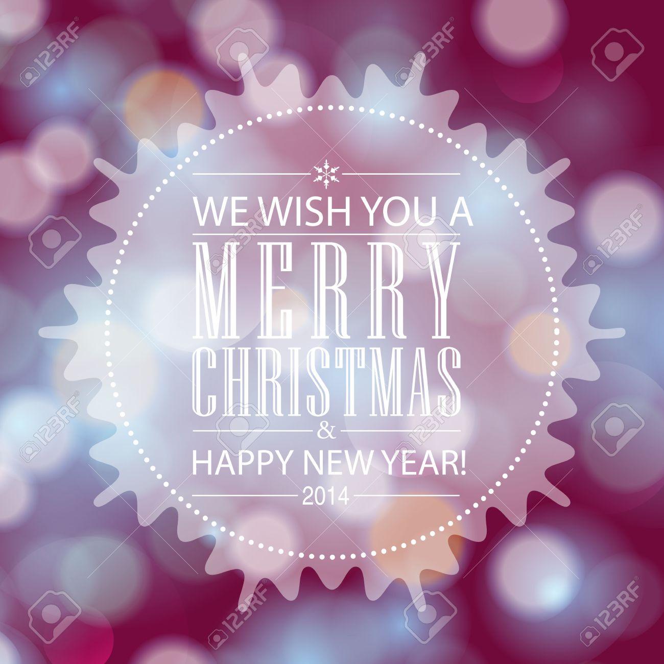 frohe weihnachten und happy new year card design. perfekt als, Einladungen