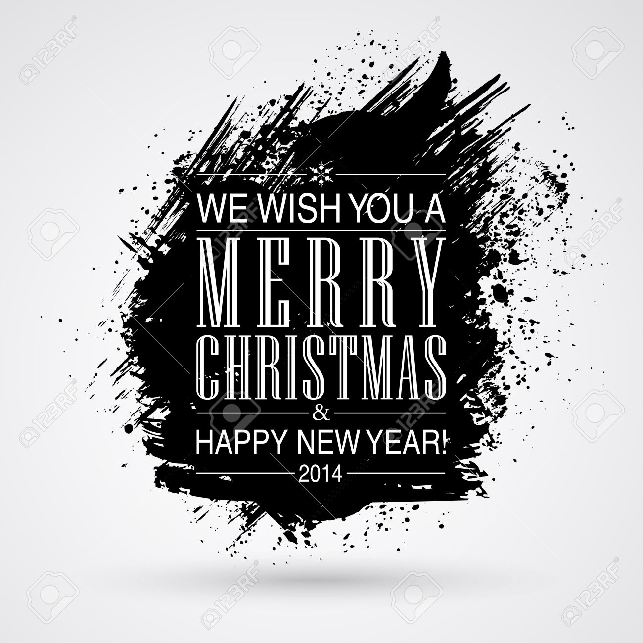 Figured brush strokes brush and ink. Merry Christmas and Happy New Year background. Stock Vector - 23980359