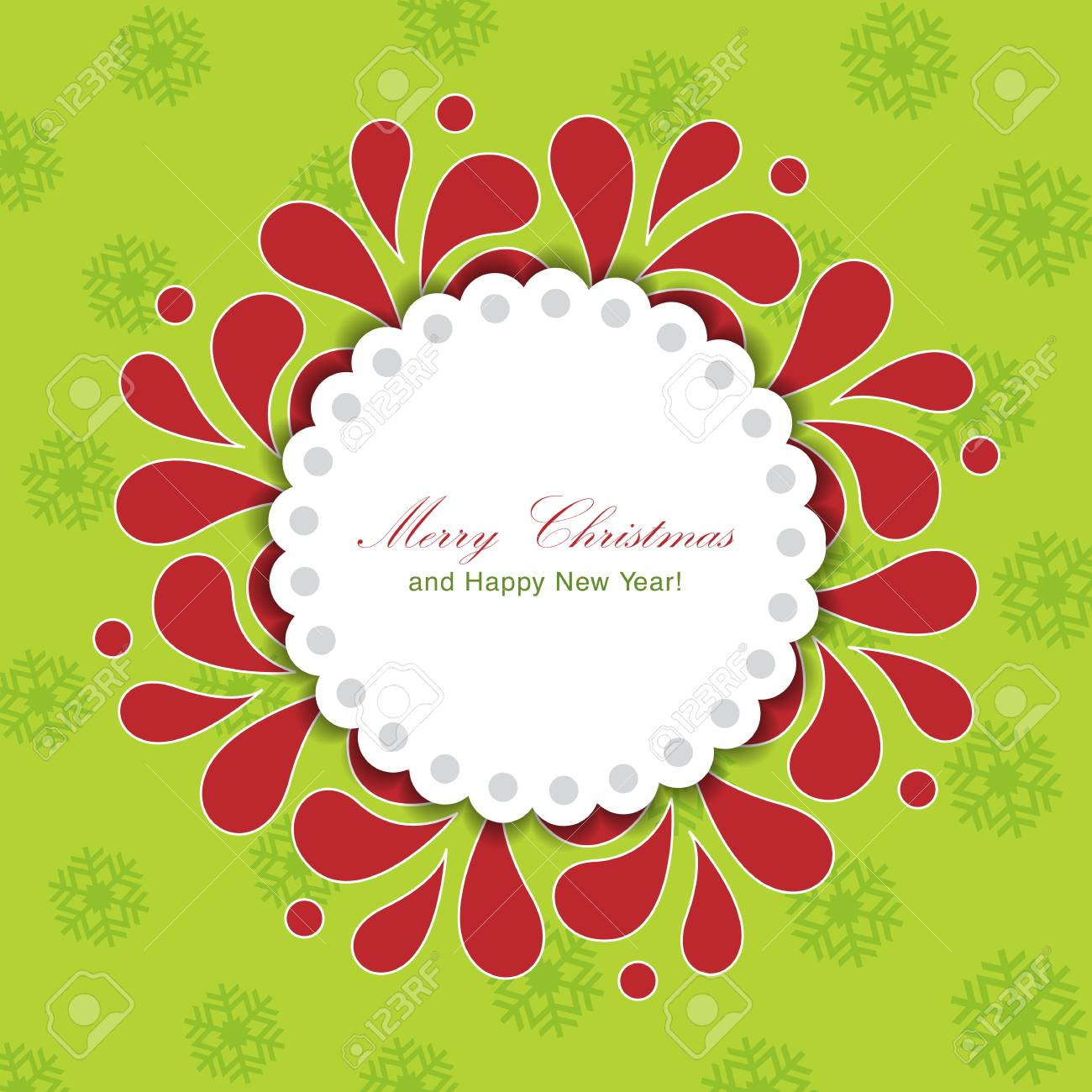Template frame design for Christmas card. Stock Vector - 24094856