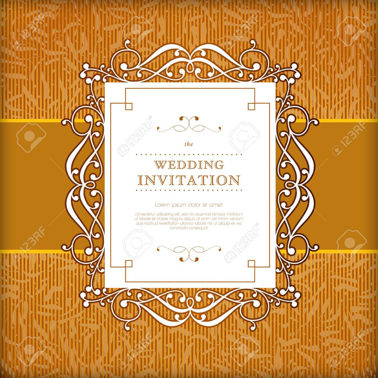 Elegant Vintage Royal Background Victorian Gold Ornament Wedding