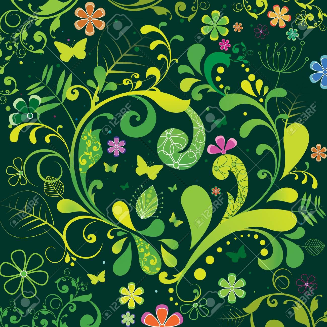 かわいい春イラスト背景 ロイヤリティフリークリップアート、ベクター
