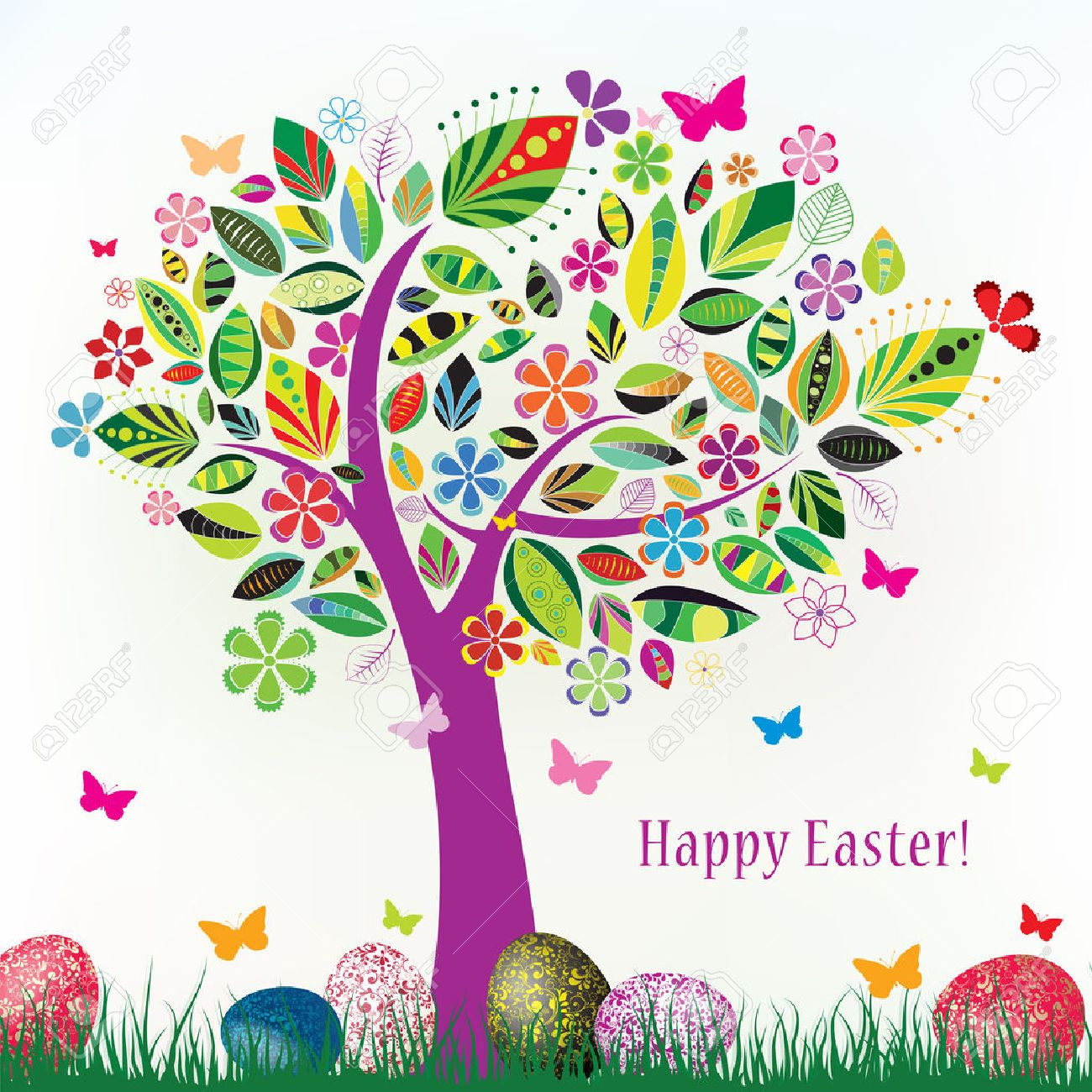 easter egg tree stock photos royalty free easter egg tree images