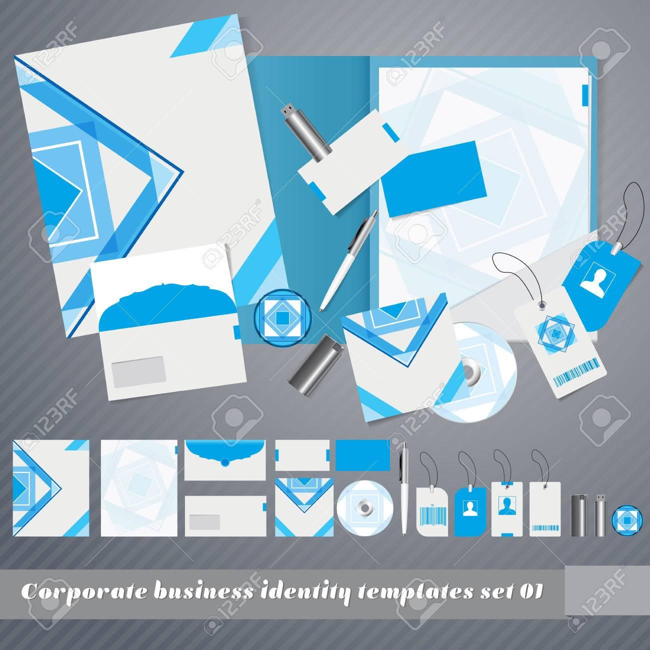 Plantillas De Identidad Corporativa Diseo La Carpeta Tarjetas Visita Papel Carta Sobres Disco