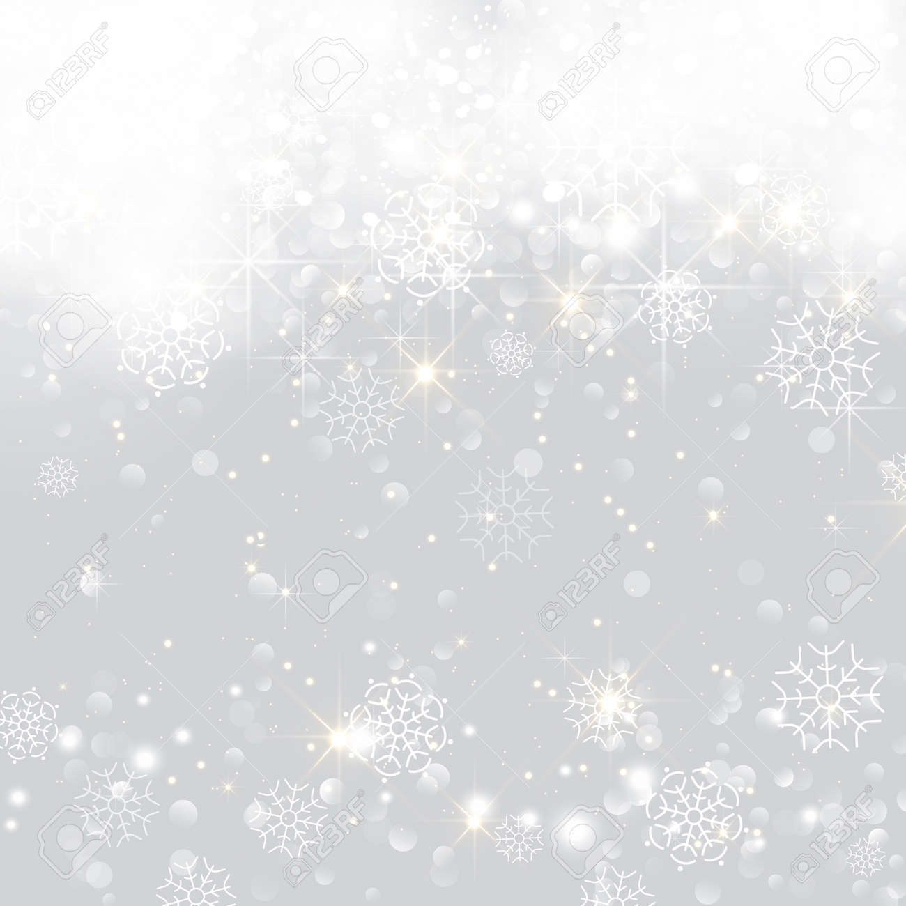 Glittery lights silver abstract Christmas background. - 158816413