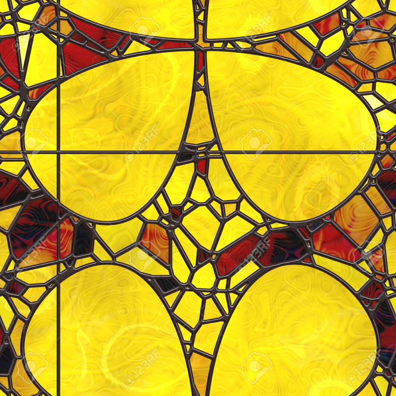 Wall Art- Nature. Stained Glass- Abstract Pattern. Art Decor ...
