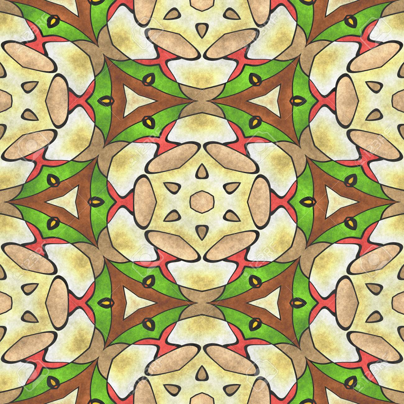 Sacred Geometry Ornament. Mosaic Ancient Geometric. Mandala Art ...