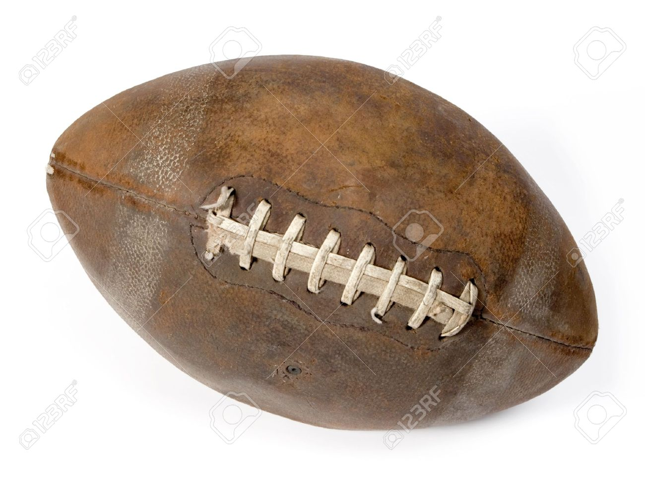 650eb51c76b2c Old Leather Ball To Play Rugby. Stock Photo, Picture And Royalty ...