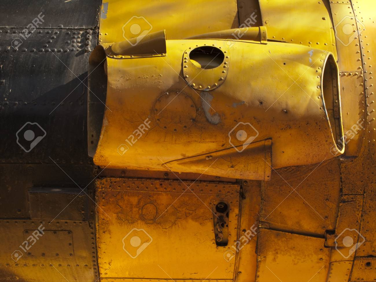 Engine detail of old airplane. Stock Photo - 4144199
