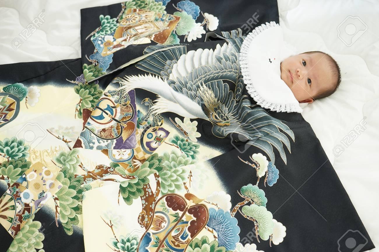 miyamairi japanese celebration for baby - 90060939