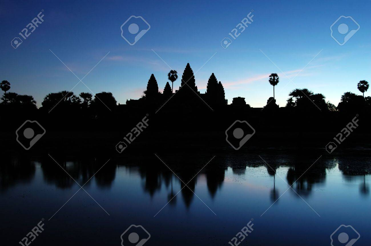 Photo of Ankgor Wat at dawn time in Cambodia Stock Photo - 711495