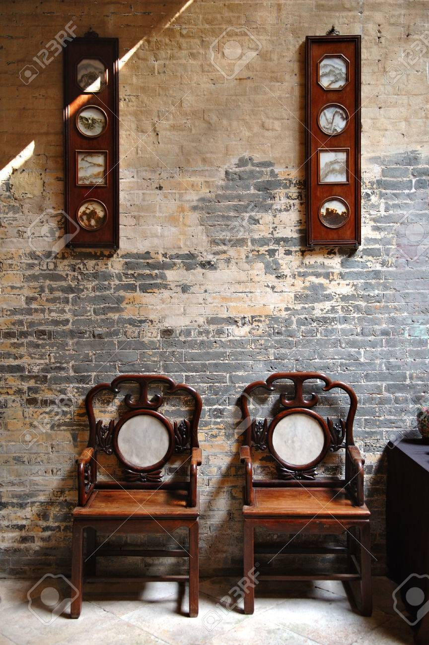Bon Stock Photo   The Sitting Room Of Traditional Chinese Furniture