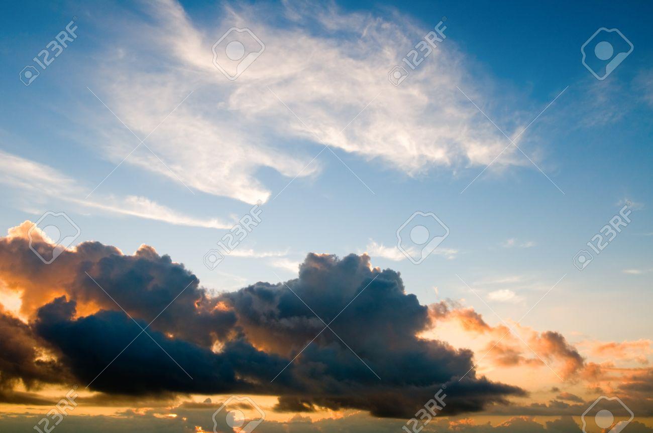 The daybreak sky background Stock Photo - 4257511