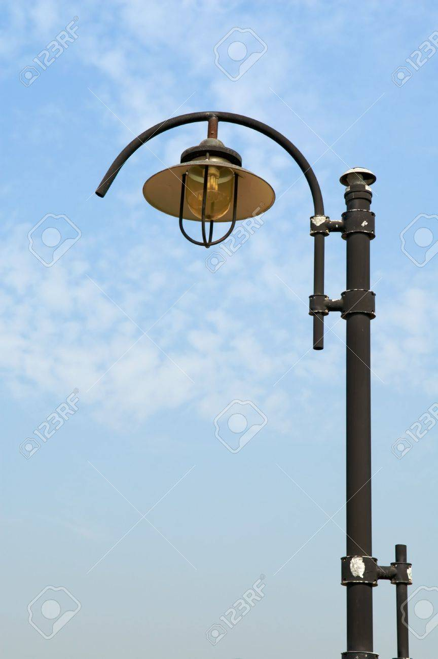 Low angle view at lamppost over blue sky Stock Photo - 6076813