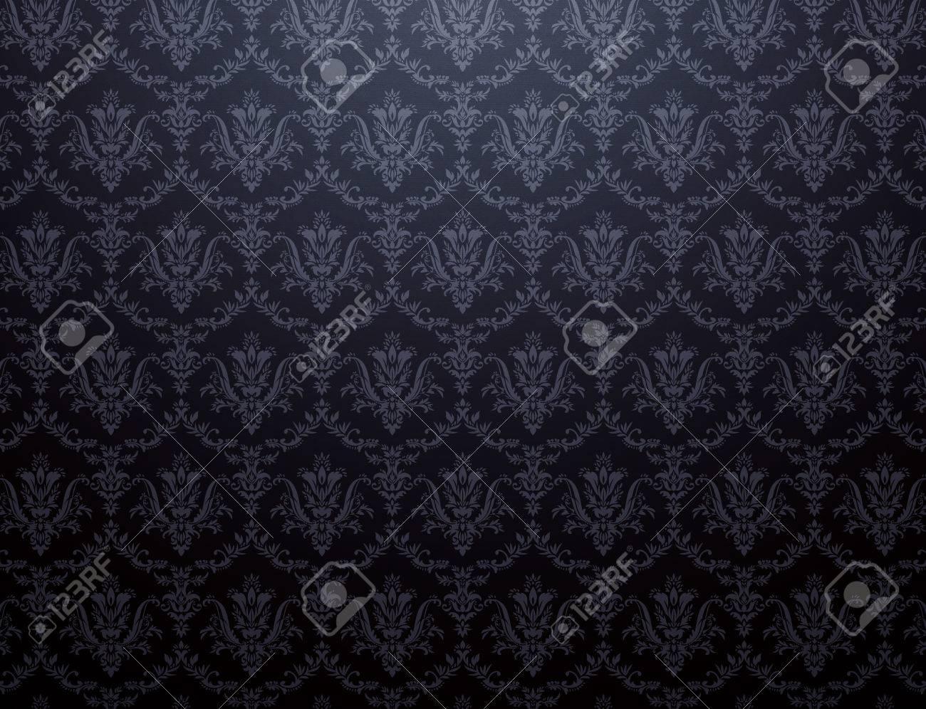 Fond D Écran Noir fond d'écran noir avec motif floral doux banque d'images et photos