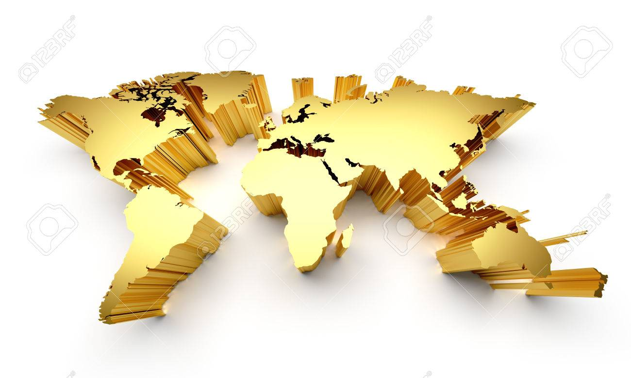 Gold world map with raised edges isolated on white stock photo gold world map with raised edges isolated on white stock photo 41725422 gumiabroncs Gallery