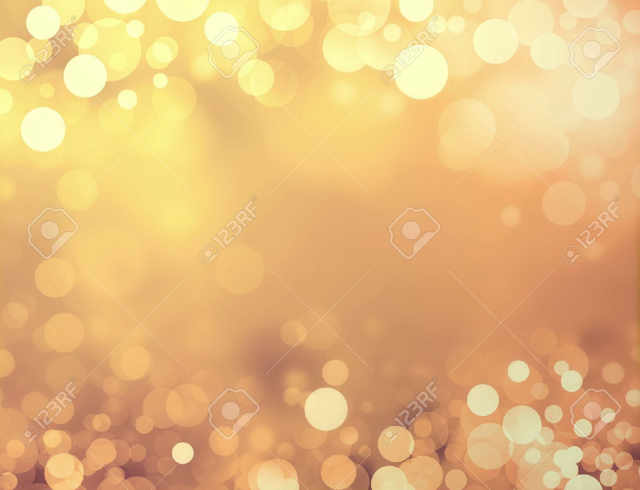 Shiny gold background with blurry circles and sparkles Stock Photo - 46142879