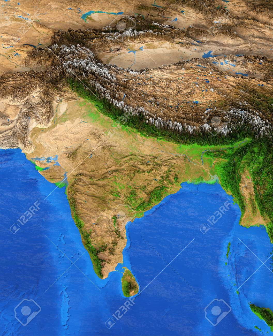 India Map Satellite View Map Of India. Detailed Satellite View Of The Earth And Its